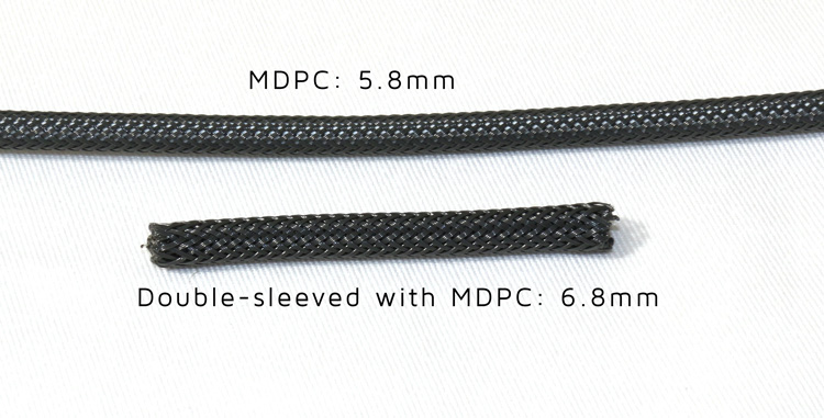 MDPC and Paracord Double Sleeved Comparison